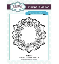UMS765 Stamps To Die For Spring Flower Wreath