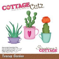 """466605 CottageCutz Die Teacup Garden 1"""" To 2.3"""""""