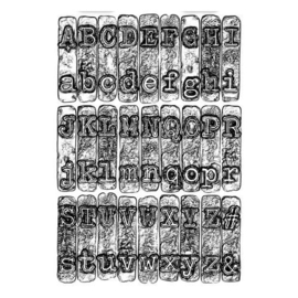 664760 Sizzix 3-D Texture Fades Embossing Folder - Typewriter  Tim Holtz