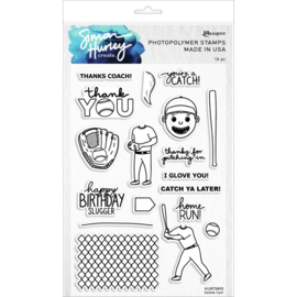 "629878 Simon Hurley create Cling Stamps  Home Run! 6""X9"""