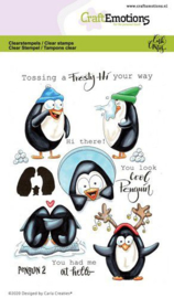 130501/1694 CraftEmotions clearstamps A6 - Penguin 2 Carla Creaties