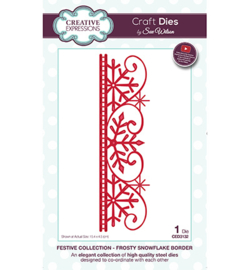 CED3132 The Festive Collection Frosty Snowflake Border