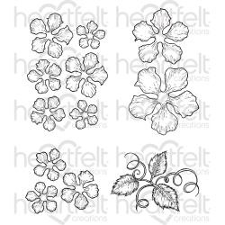 212793 Heartfelt Creations Cling Rubber Stamp Set Classic Rose