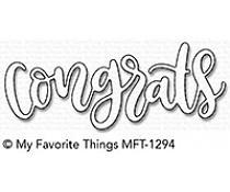 MFT-1294 My Favorite Things Congrats Die-Namics