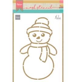 PS8018 Stencil Snowman by Marleen