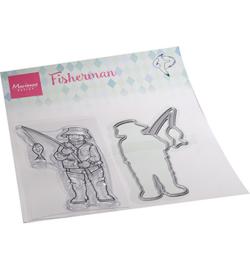 HT1663 Marianne Design Clear stamp Hetty's Fisherman