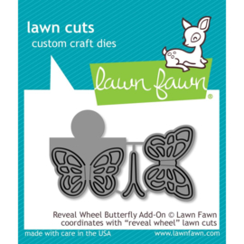 LF1910 Lawn Cuts Custom Craft Die Reveal Wheel Butterfly Add-On
