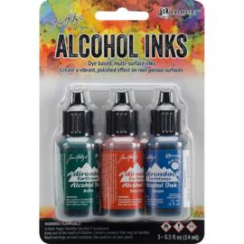 278035  TAK19770 Adirondack Inkt Rustic Lodge-Bottle/Terra-Cotta/Denim