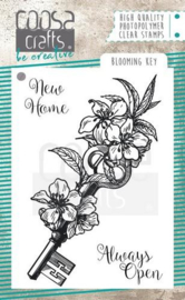 COC-060  COOSA Crafts clearstamps A7 Blooming key stamp