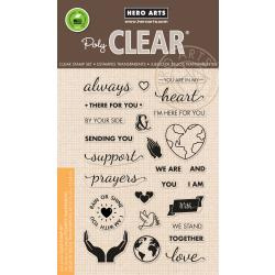 """HA-CM219 Hero Arts Clear Stamps Support Prayers Love 4""""X6"""""""