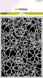 185070/1272CraftEmotions Mask stencil bloemenmix A5