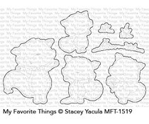 SY-09 My Favorite Things Friendly Foxes Clear Stamps