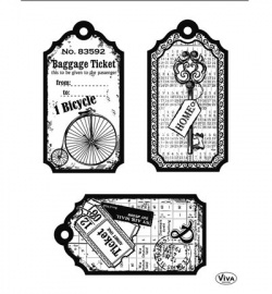 7027 Viva Decor Clear Stamps Tag Bicycle