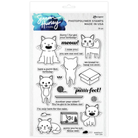 """HUR75417 Simon Hurley create. Cling Stamps Cool Cats 6""""X9"""""""