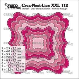 CLNestXXL112 Crealies Crea-nest-dies XXL Fantasievorm F Stiklijn