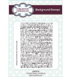 UMS818 Background Stamp Christmas Chorus
