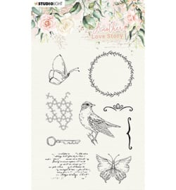 SL-ALS-STAMP03 StudioLight Clear Stamp Romantic elements Another Love Story nr.3