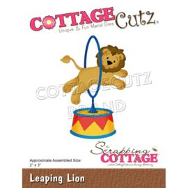 """CC866 CottageCutz Dies Leaping Lion 2""""X3"""""""