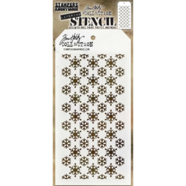 "THS 151 Tim Holtz Layered Stencil  Flurries 4.125""X8.5"""
