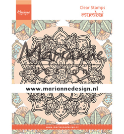 CS1036 Clear stamp  Mandala Mumbai