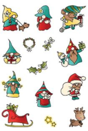 LDRSPD224 LDRS Creative Holiday Gnomes Set4x6 Inch Clear Stamps