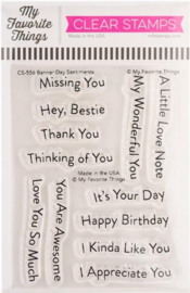 """CS557 My Favorite Things Clearly Sentimental Stamps High-Flying Adventure 4""""X8"""""""