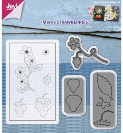 6004/0019 Stamp + Stencil Mery's Aardbeien