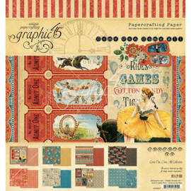 """G4502307 Graphic 45 Double-Sided Paper Pad Come One, Come All! 8""""X8"""" 24/Pkg"""