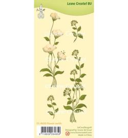 55.4650 Leane Creatief Clear Stamp Flower swirls