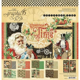"637030 Graphic 45 Collection Pack Christmas Time 12""X12"""