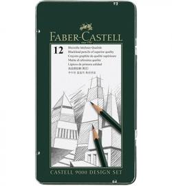 119064 Faber Castell CASTELL 9000 set Potlood Designset 12-delig