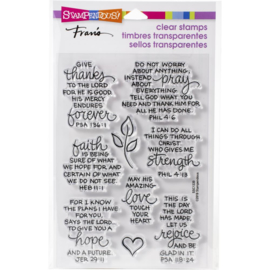 615371 Stampendous Perfectly Clear Stamps Bible Verses