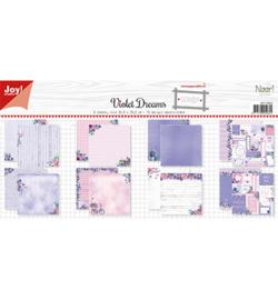 6011/0653 Papierset-NoorDesign Violet Dreams