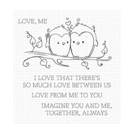 """RAM001 My Favorite Things Clear Stamps You & Me Together 4""""X4"""""""