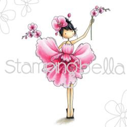 "370784 Stamping Bella Cling Stamp Garden Girl Orchid 6.5""X4.5"""