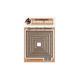 603064 Art Impressions Die Square Double Stiched