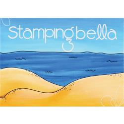 """075827 Stamping Bella Backdrop Cling Stamp Beach 3.75""""X5"""""""