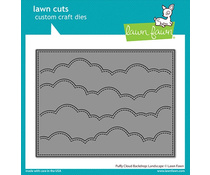 LF2351 Lawn Fawn Puffy Cloud Backdrop: Landscape Dies
