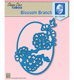 SDB007  Shape Dies Blossom branch