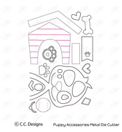 CCC41 C.C.Designs Metal Dies Puppy Accessories