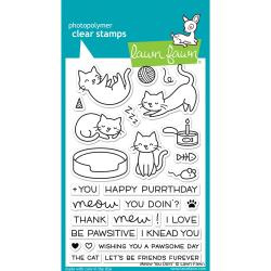 "LF1315 Lawn Fawn Clear Stamps Meow You Doin' 4""X6"""