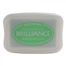 BR1-42 Brilliance ink pad pearl lime