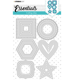 SL-ES-CD84  StudioLight Cutting Die Shapes nested small Essentials nr.84