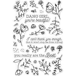 "252075 Hero Arts Clear Stamps You're Beautiful! 4""X6"""