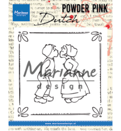 PP2803 Marianne Design Powder Pink Kissing couple