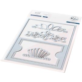 645992 PF049ES Pinkfresh Studio Essentials Die Set Fillable Gift Card Holder