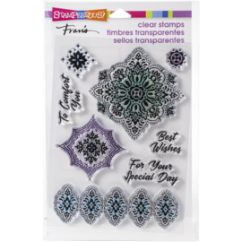 615369 Stampendous Perfectly Clear Stamps Floral Diamonds