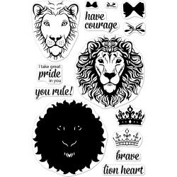"""049047 Hero Arts Clear Stamps Color Layering Brave Lion 4""""X6"""""""