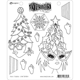 """DYR76964 Dyan Reaveley's Dylusions Cling Stamp Tree Topper 8.5""""X7"""""""