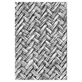 664759 Sizzix 3-D Texture Fades Embossing Folder - Intertwined Tim Holtz